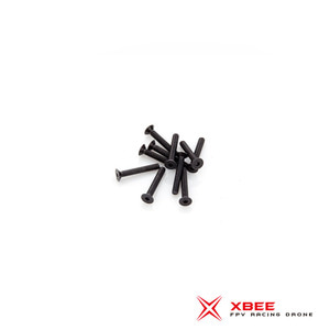 Flat Head screw M3 x 20mm (SCM435 Black Oxiding)